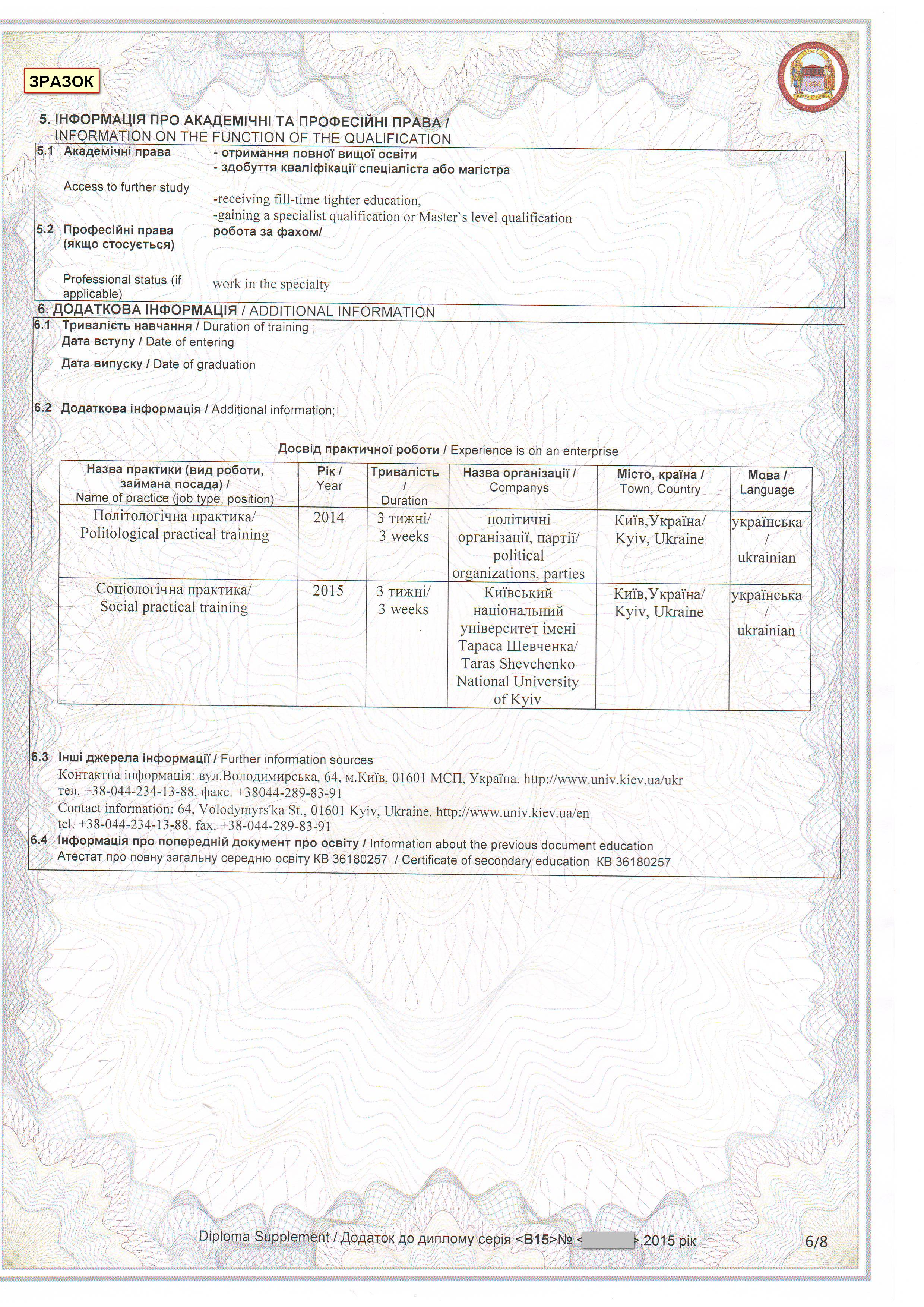 Official information sample documents about education at taras shevchenko national university of kyiv xflitez Image collections